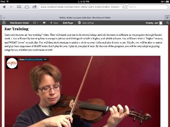 Online Violin Lessons Coming to iPad and Other Tablets